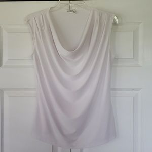 Creative design works Wht scoop neck blouse